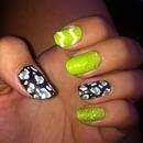 Green, black &white