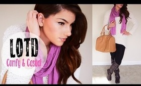 LOTD: Comfy Casual ♥ Makeup, Hair & Outfit   Kayleigh Noelle