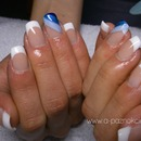 French witch blue strips