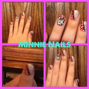 Minnie mouse nails :)