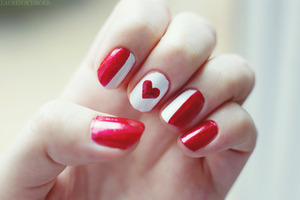 I did this design for Canada Day based off of cutepolish's Canada Day nail tutorial! I got lots of compliments on them and were perfect for the holiday!