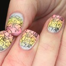 Pastel Cutesy Rainbow Stamping Nails!