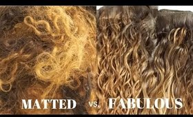 How to Revive & Restore Your Old Matted Hair Bundles