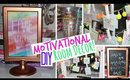 Motivational DIY Room Decor & Tumbler Cup