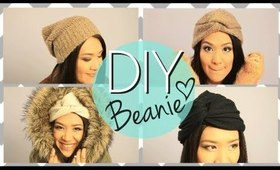 DIY No Sew Cute Beanie Boho Twisted Hat {EASY}
