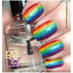 Rainbow Nails: http://buttercreamlipgloss.com/post/24144632289/rainbow-stripes-the-beginning-of-my-notw-ill