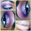 Glittery pink and purple eye