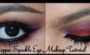 Copper Sparkle Eye Makeup