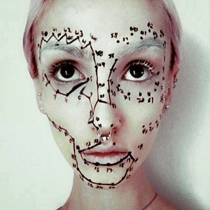 #art #portrait #mua #makeupartist #numbers #jointhedots #art #abstract