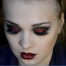 Demonic Red Glitter Eyes