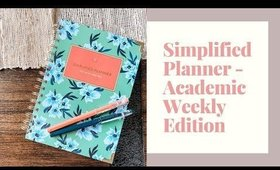 SIMPLIFIED PLANNER - Academic Weekly Edition
