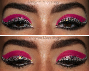 Glitter Liner Reinvented: Highlighters & Hardware. Info and tutorial on my blog: http://www.maryammaquillage.com/2012/02/eye-reinvented.html