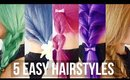 5 Minute Easy Hairstyles ♥ School Hair Tutorial ♥ Wengie