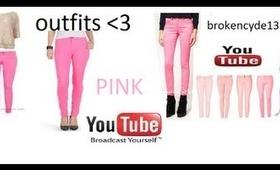 outfits para la escuela (pantalon rosado)