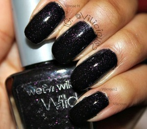 Two coats of Wet n Wild Night Prowl! I've been meaning to swatch this polish for about two years now, and today I just around to doing it. This polish is gorgeous.