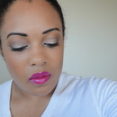 Girl About Town lipstick and Neutral eyes