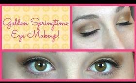 GORGEOUS Golden Spring Makeup Look!