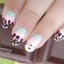 Chocolate Dipped Pastel Colored Strawberry Nails