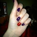 Purple & Red Glitter