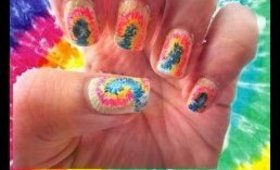 Easy Tie dye nail art