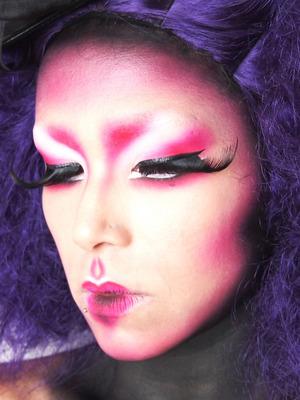 A dramatic look using Sugarpill and my airbrush.