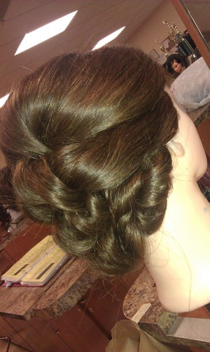 An updo I did in class.. very easy to do!