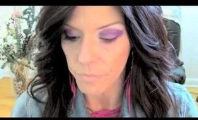 Retro 80's Look With Hot Pink and Purple