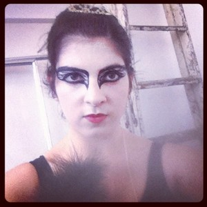 My Black Swan Makeup for a movie themed event at school