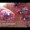 Hearts and skulls Nails