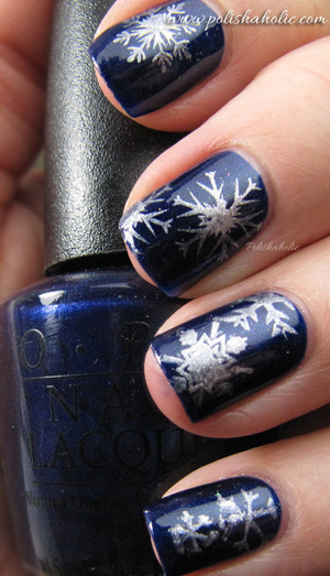 OPI Yoga-TA Get This Blue and Konad Special Polish Silver