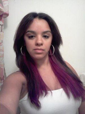 My new hair color (temp) lol
