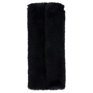 Faux Fur Brush Roll Black