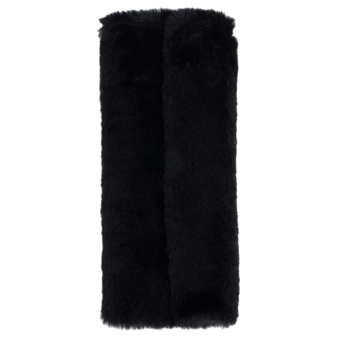 Beautylish Presents Faux Fur Brush Roll Black product swatch.