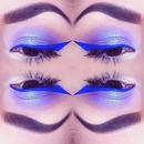 Purple Eyes with Blue Liner