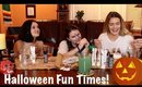 Painting Pumpkins with my Witches   Halloween 2019