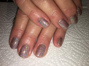 Superfine Rose Gold and Silver glitter ombre