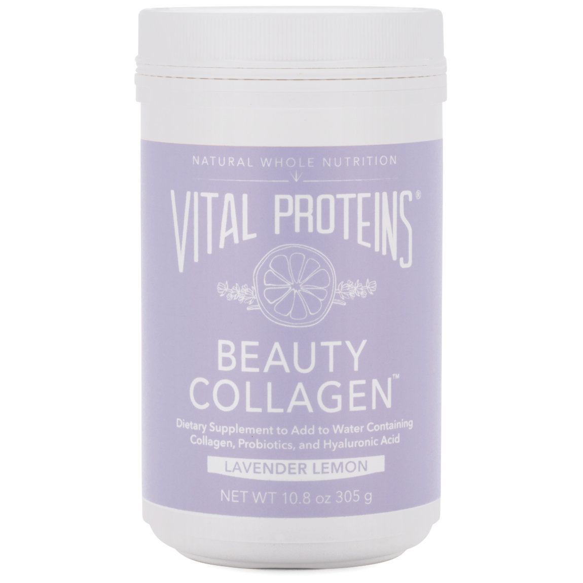 Vital Proteins Beauty Collagen - Lavender Lemon 10.8 oz product swatch.