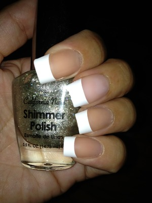Silver Shimmer polish also by California Nails