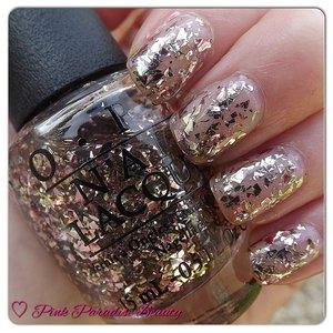 A Rose Gold/Silver Glitter