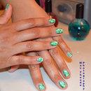 Saran wrap nail art