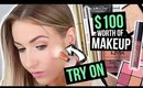 My BIGGEST Beauty Box of Faves!! || TRY-ON STYLE! [Tarte, Stila, Wet n Wild & more!]!