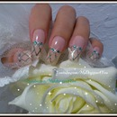 Easy Natural Bridal Nail Art