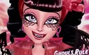 Monster High Draculaura Ghouls Rule Makeup Tutorial Featuring Rockeresque Beauty Company