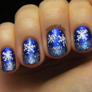 Blue Year's Snowflakes