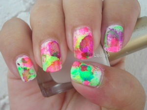 Splatter nails with a straw