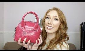 What's In My Bag?   Zara Fuchsia Mini Bowling Bag