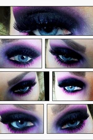 Deep purple eye on myself