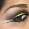 Smokey Eye with Gold Liner