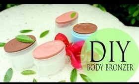 DIY Body Bronzer & Cheek Stain!! Easy Summer Go-To Moisturizer