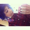 My blue hair!!!!!